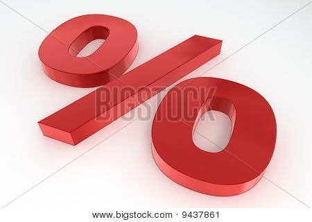 Red Shiny Percent Symbol