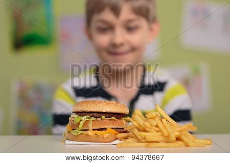 Big Burger And Chips