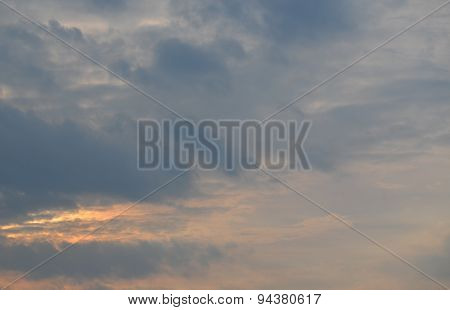 Background Of Sunset