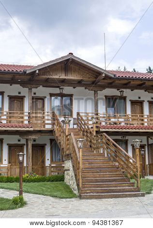 Small Country Two Floors Hotel With External Staircase