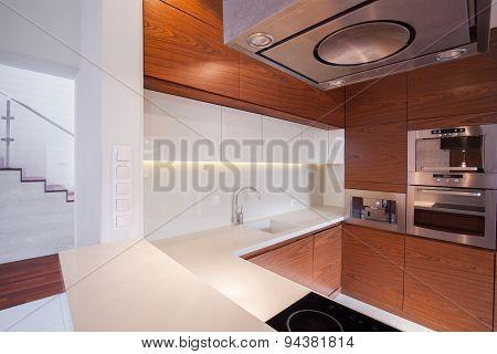 Wooden Units In Kitchen