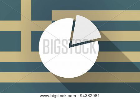Greece  Long Shadow Flag With A Clock