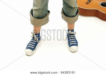 Street guitar musician style.
