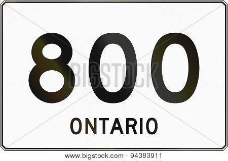 Ontario Highway Sign 800