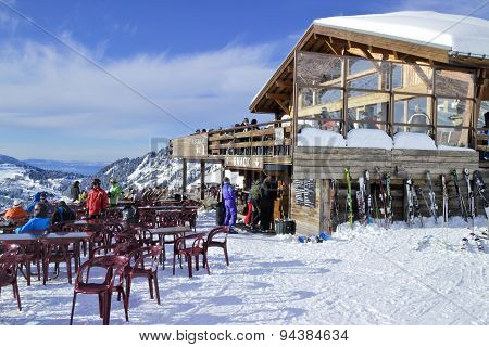 Apres ski in French Alps