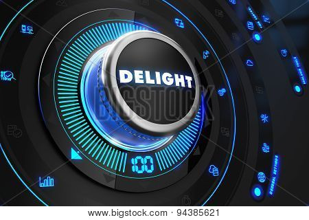 Delight Controller on Black Control Console.