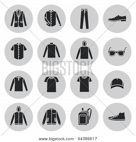Men's Clothing and accessories icons