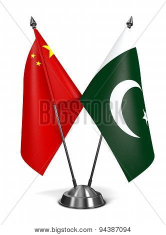 China and Pakistan - Miniature Flags.