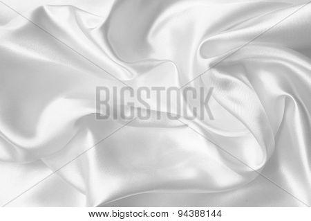 Smooth Elegant White Silk Or Satin Texture As Wedding Background