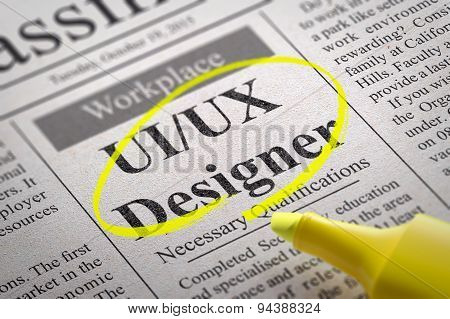 UI-UX Designer Jobs in Newspaper.