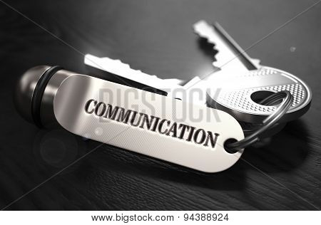Communication Concept. Keys with Keyring.