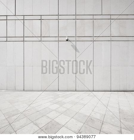 concrete wall and floor with cctv