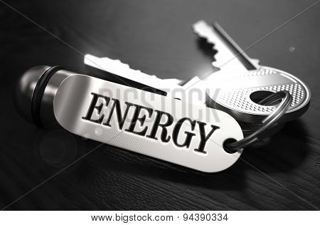 Energy Concept. Keys with Keyring.