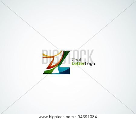 Company logo. icon made of overlapping shapes