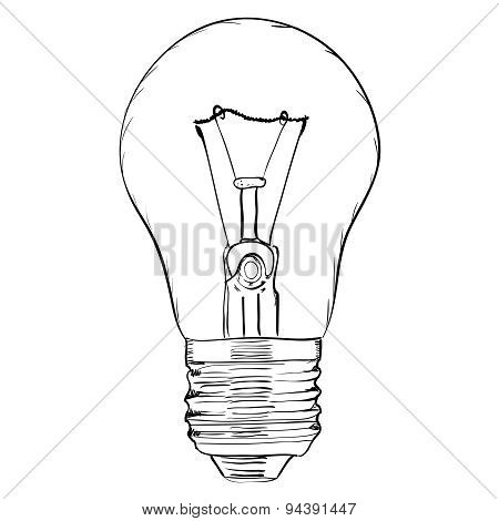 Hand-drawn light bulb.