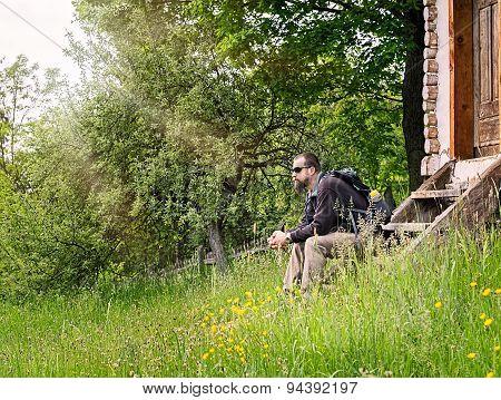 Bearded Man Resting