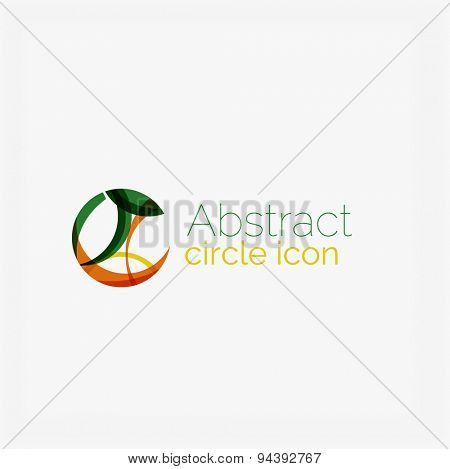 Swirl line abstract background. Modern layout for your message, slogan or brand name