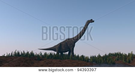 walking brachiosaurus