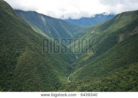 Valley In Yungas Region, Bolivia