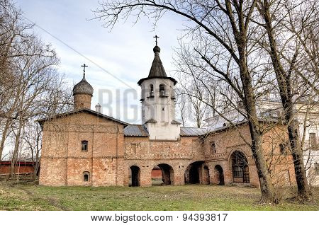 Church of the Archangel Michael and Church of the Annunciation. Veliky Novgorod, Russia