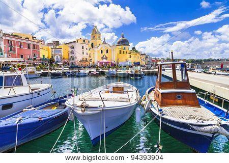 colorful Procida island , Campania.Italy
