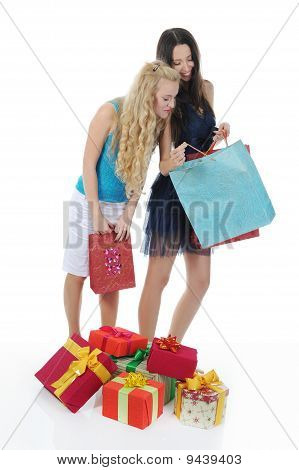 Two Women With Gifts.