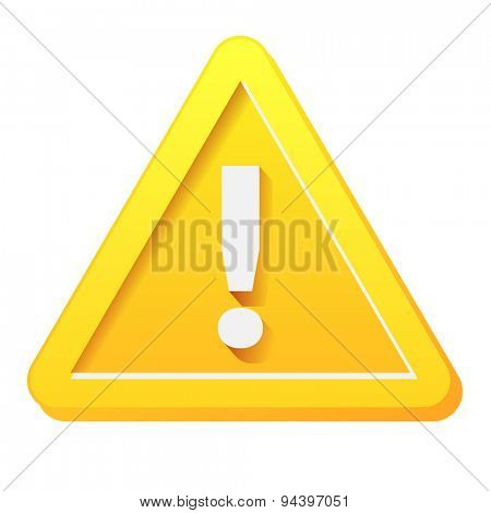 Yellow attention sign with white exclamation mark