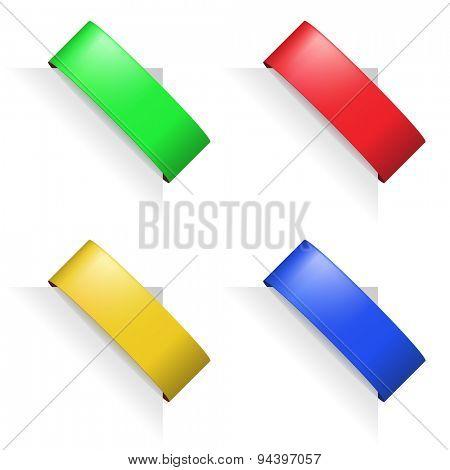 Multicolor paper corners