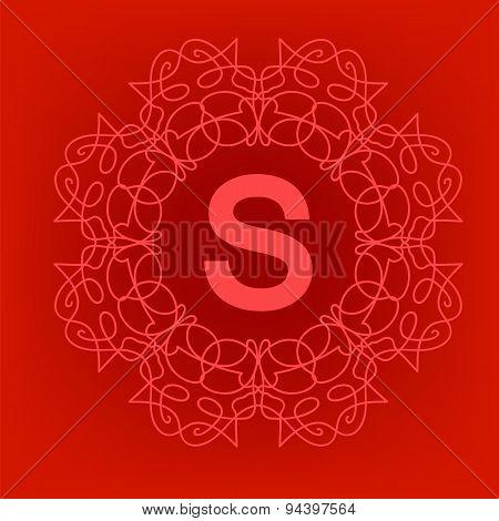 Simple  Monogram S Design