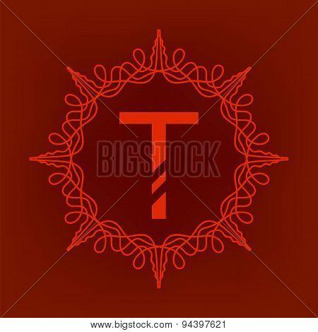 Simple  Monogram T