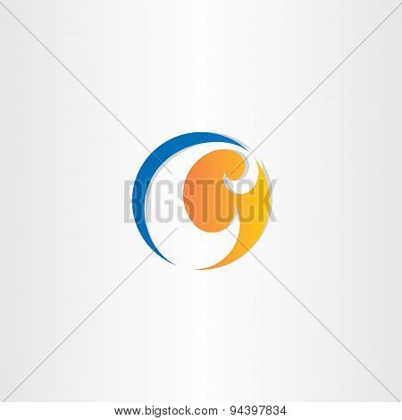 Letter C Abstract Business Icon