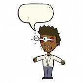 pic of stare  - cartoon staring man with speech bubble - JPG