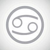 foto of cancer horoscope icon  - Grey cancer zodiac symbol in circle - JPG