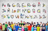 pic of alphabet  - English Alphabet Letters Number Education Concept - JPG