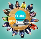 picture of transfer  - Cloud Computing Database Transfer Internet Technology Concept - JPG