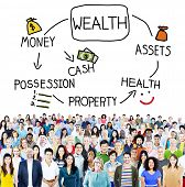 foto of possess  - Wealth Money Possession Investment Growth Concept - JPG