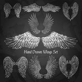 Постер, плакат: Wings Chalkboard Set