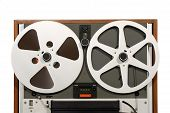 image of ferrite  - Classic Retro Open Reel Tape Recorder Close - JPG