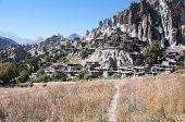 picture of sherpa  - Braga Gompa village in Nepal - JPG
