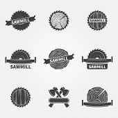 picture of carpentry  - Sawmill logo or label  - JPG