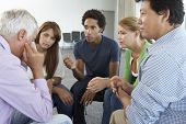 image of aa meeting  - Meeting Of Support Group - JPG
