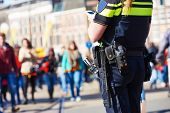 stock photo of policeman  - city safety and security - JPG