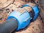 image of tubes  - blue tube junction - JPG