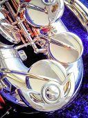 stock photo of saxophones  - Key Golden Saxophone - JPG