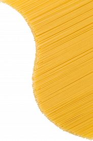 stock photo of yin  - Spaghetti in the form of a wave on a white background - JPG