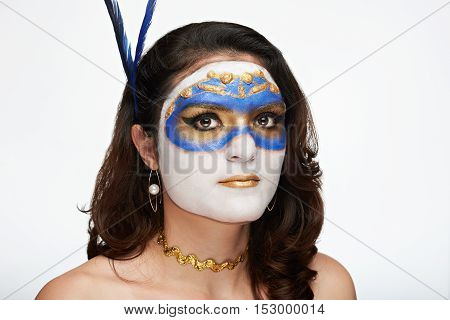 Gold Mask For Halloween
