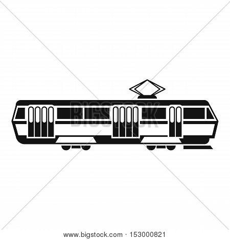 Tram icon. Simple illustration of tram vector icon for web design