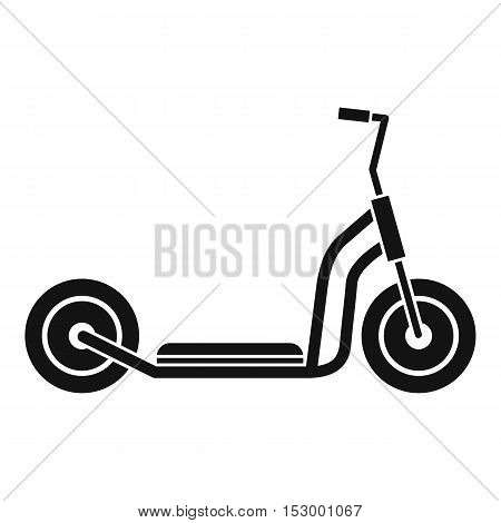 Kick scooter icon. Simple illustration of kick scooter vector icon for web design