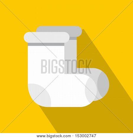 Russian felt footwear icon. Flat illustration of footwear vector icon for web design