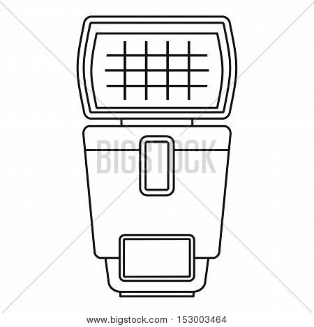 Lighting flash for camera icon. Outline illustration of lighting flash for camera vector icon for web
